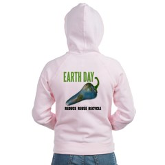 Earth Day Global Warming Women's Pinky Zip Hoodie