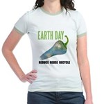 Earth Day Global Warming Jr. Ringer T-Shirt