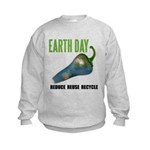Earth Day Global Warming Kids Sweatshirt