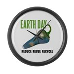 Earth Day Global Warming Large Wall Clock