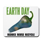 Earth Day Global Warming Mousepad