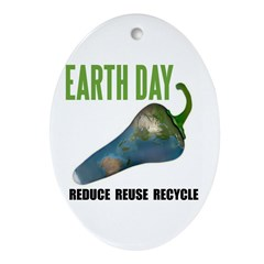 Earth Day Global Warming Oval Ornament