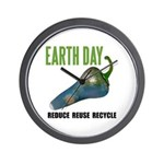 Earth Day Global Warming Wall Clock