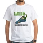 Earth Day Global Warming White T-Shirt