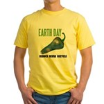 Earth Day Global Warming Yellow T-Shirt