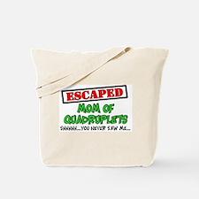 Escaped mom of Quadruplets Tote Bag