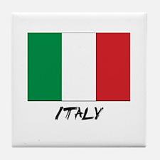 Italy Flag Tile Coaster