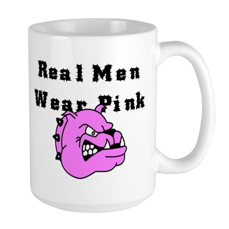REAL MEN WEAR PINK Large Mug