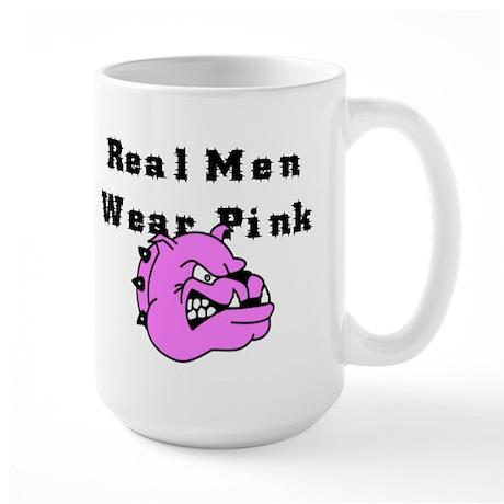 REAL MEN WEAR PINK Large Mug