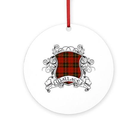 Wallace Tartan Shield Ornament (Round)