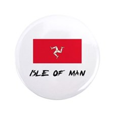 "Isle Of Man Flag 3.5"" Button"