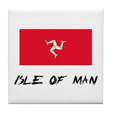 Isle Of Man Flag Tile Coaster