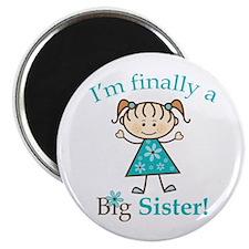 """Big Sister Finally 2.25"""" Magnet (10 pack)"""
