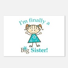 Big Sister Finally Postcards (Package of 8)