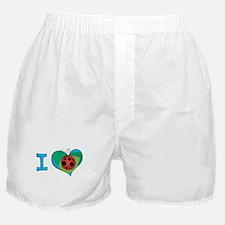 I heart ladybugs Boxer Shorts