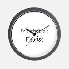I'm training to be a Flautist Wall Clock