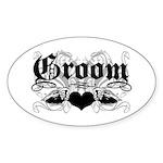 Groom Oval Sticker