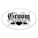 Groom Oval Sticker (10 pk)