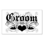 Groom Rectangle Sticker 10 pk)