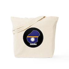 Flag Map of Nauru Tote Bag