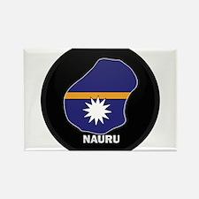 Flag Map of Nauru Rectangle Magnet