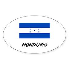 Honduras Flag Oval Decal
