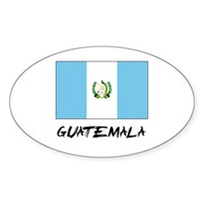 Guatemala Flag Oval Decal