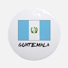Guatemala Flag Ornament (Round)