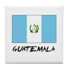 Guatemala Flag Tile Coaster