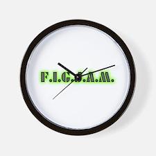 F.I.G.J.A.M. Wall Clock