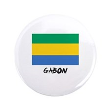 "Gabon Flag 3.5"" Button"