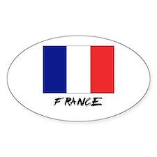 France Flag Oval Decal