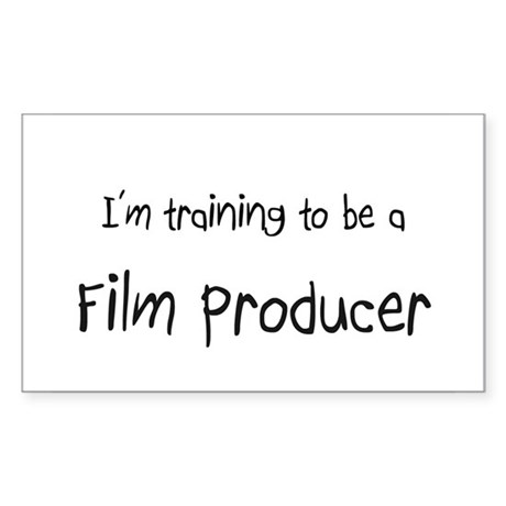 I'm training to be a Film Producer Sticker (Rectan