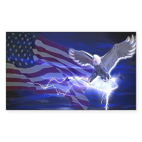 Eagle Storm Rectangle Sticker