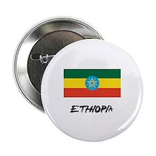 """Ethiopia Flag 2.25"""" Button"""