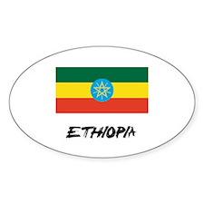 Ethiopia Flag Oval Decal
