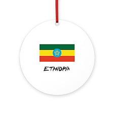 Ethiopia Flag Ornament (Round)