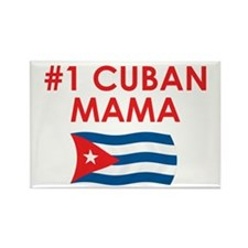 #1 Cuban Mama Rectangle Magnet