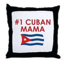 #1 Cuban Mama Throw Pillow