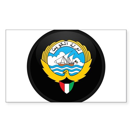Coat of Arms of kuwait Rectangle Sticker