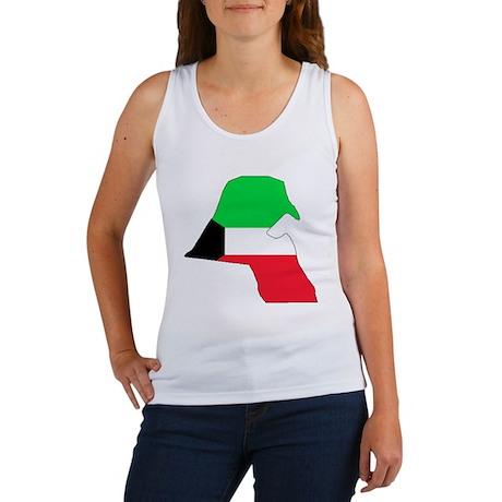 kuwait Flag Map Women's Tank Top