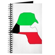kuwait Flag Map Journal