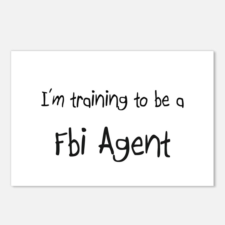 I'm training to be a Fbi Agent Postcards (Package