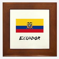 Ecuador Flag Framed Tile
