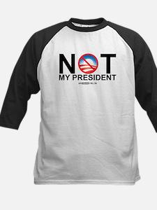 Not My President Kids Baseball Jersey