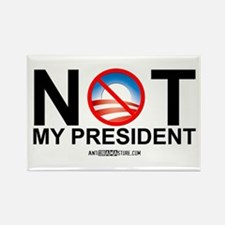 Not My President Rectangle Magnet