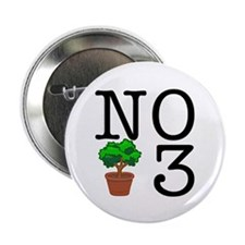 "No Third Bush 2.25"" Button (100 pack)"