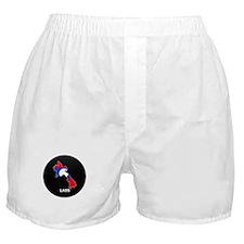 Flag Map of Laos Boxer Shorts