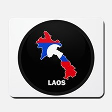 Flag Map of Laos Mousepad