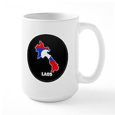 Flag Map of Laos Mug